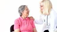 Senior woman visit a doctor
