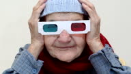 Senior woman with 3d glasses