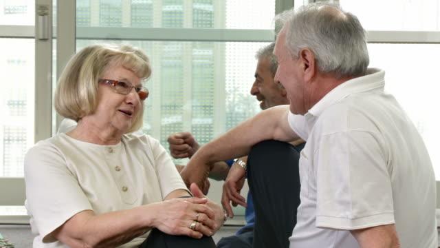 HD DOLLY: Seniors Enjoying A Conversation