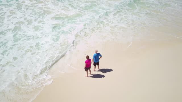 Seniors Taking on the World, aerial seniors beach