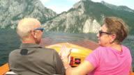 Seniors Taking on the World, boat trip on mountain lake