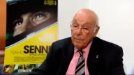'Senna' film premiere Interviews and red carpet arrivals ENGLAND London INT Murray Walker interview SOT I knew him from when he first came over in...