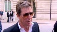 'Senna' film premiere Interviews and red carpet arrivals Hugh Grant towards past Hugh Grant interview SOT It was a shocker / I'm quite new to the...