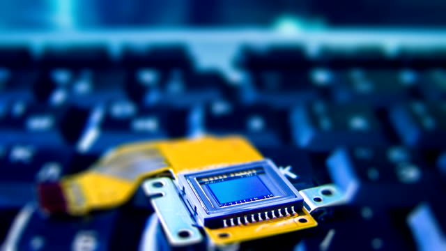 CCD sensor on a keyboard timelapse
