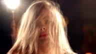 Sensual Blond Girl in Nightclub