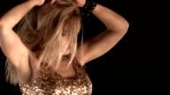 Sensual Blonde Girl in Nightclub