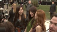 Seohyun Yoona and Tiffany from Girls Generation at Burberry Prorsum Red Carpet Arrivals London Fashion Week Autumn/Winter 2012 at Kensington Gardens...