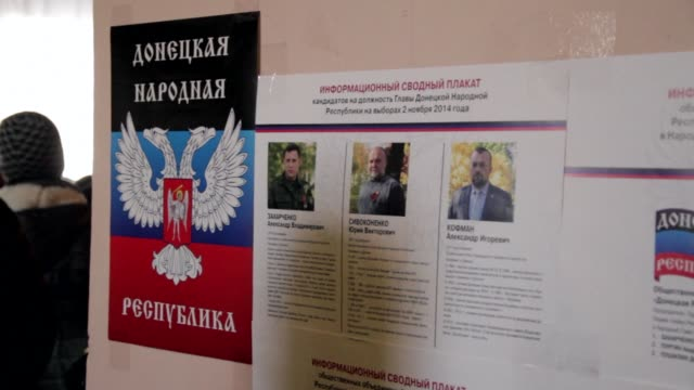Separatists in eastern Ukraine hold elections condemned by Kiev and Western governments but backed by Russia
