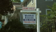 September 10 2008 ZI FOR SALE sign outside house / United States
