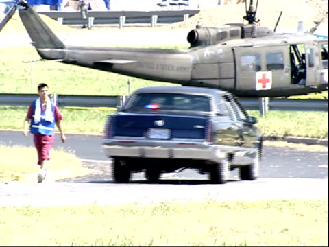 September 11 2001 ZO Police cars driving towards the Pentagon / Arlington County Virginia United States