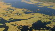 September 13 2005 aerial wide shot over bayou near Slidell / Louisiana
