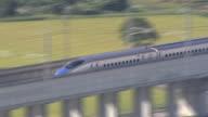 September 14 a Hokuriku Shinkansen traveling toward the City of Namerikawa