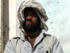 September 15 2005 CU ZO MS Portrait of man who lost leg in mine field / Afghanistan / AUDIO