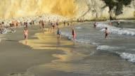 Sequence of shots of bathers on Playa Poniente Benidorm Province of Alicante Costa Blanca Mediterranean Sea Spain