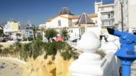 Sequence of shots of bathers on Playa Poniente Benidorm Province of Alicante Costa Blanca Mediterranean Sea Southern Spain