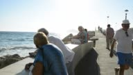 Sequence of shots of Playa Poniente Benidorm Province of Alicante Costa Blanca Mediterranean Sea Spain