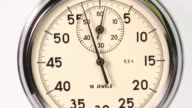Sequence of stop watches starting from zero.