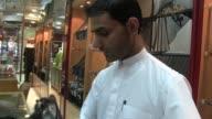 Sequence shot Emirati Traditional Clothing Store in Abu Dhabi United Arab Emirates Shot on November 2012