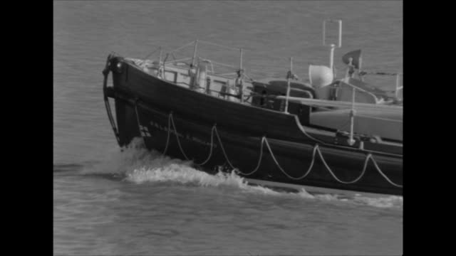 Sequence showing a RNLI lifeboat on patrol off the Kent coast