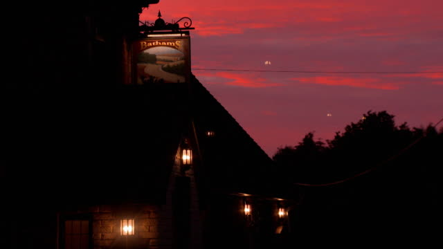 Sequence showing a village pub operated by Bathams in Staffordshire England at sunset FKAH380J AEYZ199P