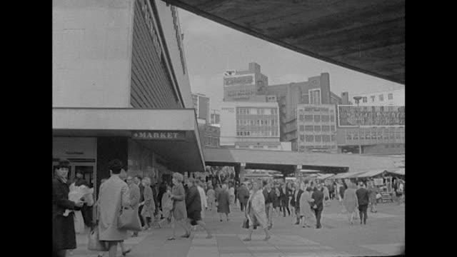 Sequence showing Birmingham's city centre