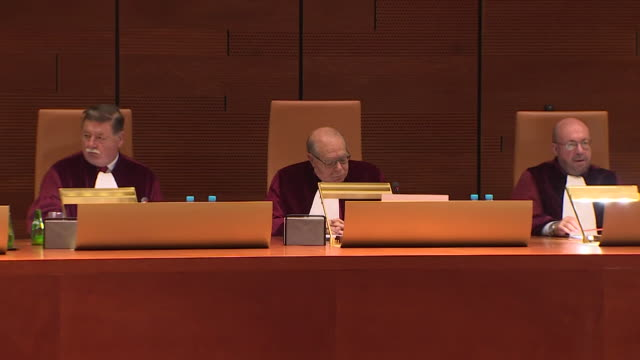 Sequence showing interiors at the European Court of Justice in Luxembourg NNBZ103T AE number ABSA627D