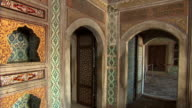 Sequence showing some of the highly decorated rooms in the Imperial Harem at Topkapi Palace in Instanbul.