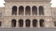 Sequence showing the arches of the Vienna State Opera House, Austria.