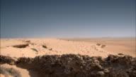 Sequence showing the arid coastline of Western Sahara.