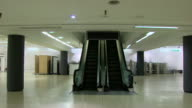 Sequence showing the empty interior of a BHS department store several months after the company's collapse UK NNBZ102A AE number ABSA627D