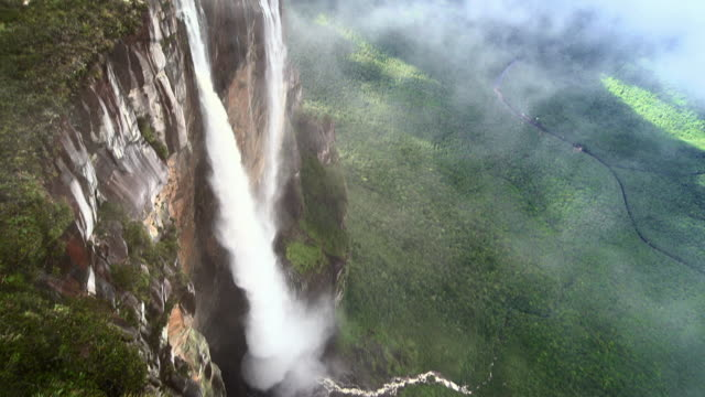Sequence showing various vertiginous handheld and aerial views from the top of a Tepui mountain, Venezuela.