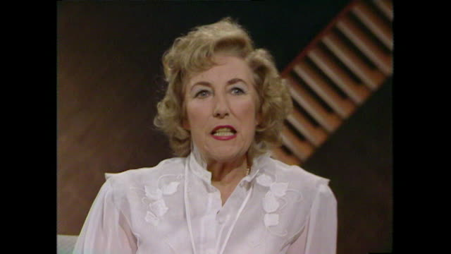 Sequence where Dame Vera Lynn shares her mixed feelings about performing as a young woman saying 'I enjoyed it when it was over' 1984 LLVG340R...