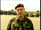 Serbia Kosovo EXT Brigadier Barney WhiteSpunner interviewed SOT We need an enduring ceasefire want to see a committment from all Ethnic Albanian...