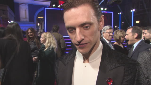 INTERVIEW Sergei Polunin on working with Judi Dench Kenneth Branagh as a director Kenneth Branagh mustache at 'Murder on the Orient Express' World...