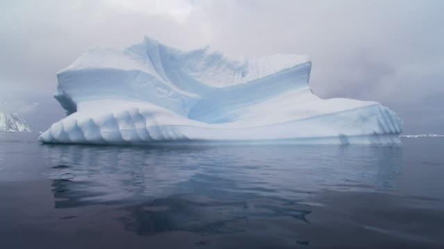serrated iceberg in antarctica