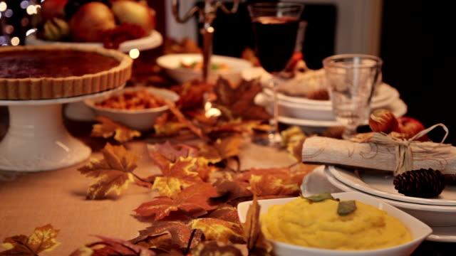 Serving Thanksgiving Turkey Dinner