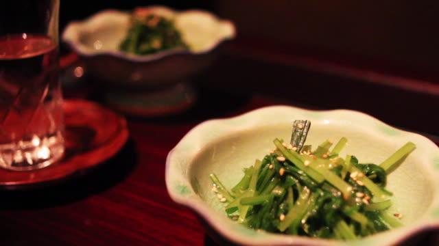 Sesame salad at Japanese restaurant
