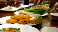 set of Asian food