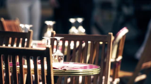 Set Tables in Outdoor Restaurant