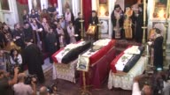 Several hundred people attended Tuesdays funeral for three Christian residents of the Syrian village Maaloula that was taken on Sunday by al Qaeda...