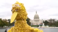 Several hundred supporters of US public broadcasting marched on the US Congress Saturday in a Million Puppet March in favor of ongoing federal...