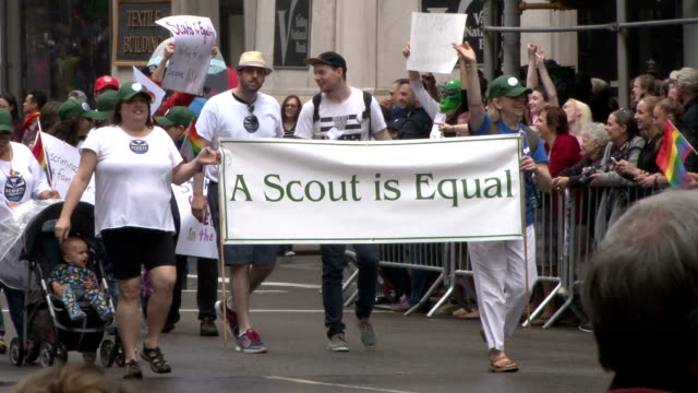 Several million people come together at the annual Gay Pride Parade in New York City to celebrate the recent Supreme Court decision making same sex...