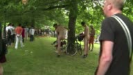 Several thousand cyclists take part in the annual World Naked Bike Ride in central London to protest against car culture and to raise awareness of...