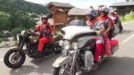 Several thousand Harley Davidson enthusiasts take to the French Alps for their largest annual gathering in France