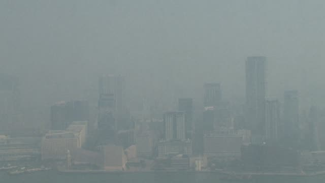 Severe levels of air pollution hit Hong Kong the result of high concentrations of nitrogen dioxide according to the government CLEAN Severe air...
