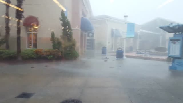 Severe storm near the Nike Factory Store in Orlando FL