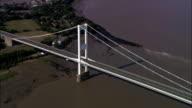 Severn Road Bridge - Aerial View - Wales, Monmouthshire, United Kingdom