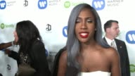 INTERVIEW Sevyn Streeter on the evening her nomination at Warner Music Group Hosts Annual Grammy Celebration in Los Angeles CA