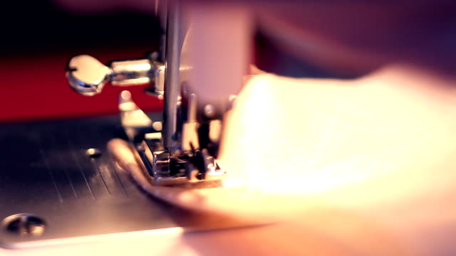 Sewing machine working