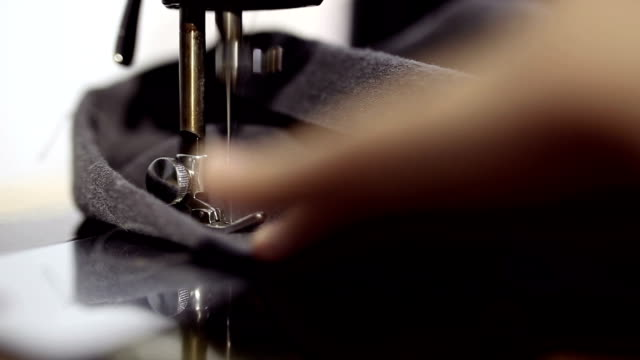 Sewing machines making clothes